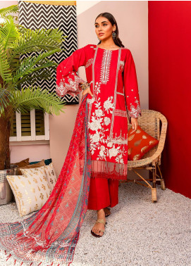 Nureh by Riaz Arts Embroidered Lawn Unstitched 3 Piece Suit NR20EL NJ 08 - Spring / Summer Collection