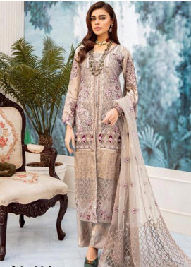 Nureh by Riaz Arts Embroidered Missouri Unstitched 3 Piece Suit NRA20C 01 - Luxury Collection
