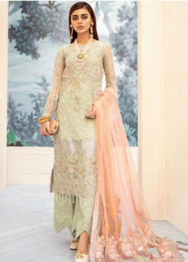 Nureh by Riaz Arts Embroidered Chiffon Unstitched 3 Piece Suit NRA20C 02 - Luxury Collection