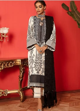 Nureh Embroidered Leather Unstitched 3 Piece Suit N20LJ 13 - Winter Collection