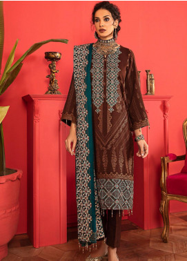 Nureh Embroidered Leather Unstitched 3 Piece Suit N20LJ 15 - Winter Collection