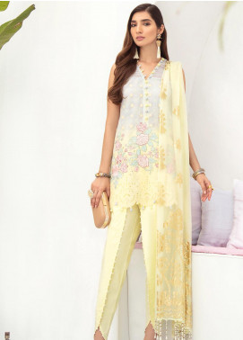Nureh by Riaz Arts Embroidered Lawn Unstitched 3 Piece Suit N20RA NF-03 IRIS - Luxury Collection