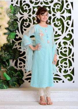 Ochre Net Casual 2 Piece Suit for Girls -  OFW 265 Mint Green