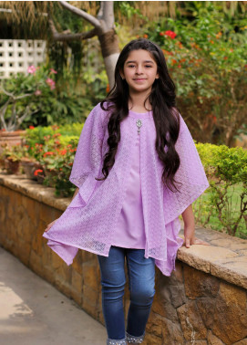 Ochre Cotton Western Tops for Girls - OWT 336 Purple