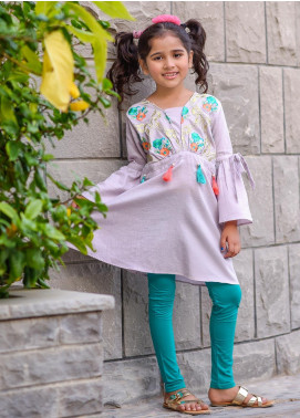 Ochre Chambray Western Tops for Girls -  OWT 302 Purple