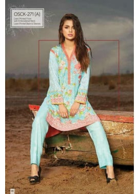 Oaks Embroidered Lawn Unstitched Kurtis OK17L 271A