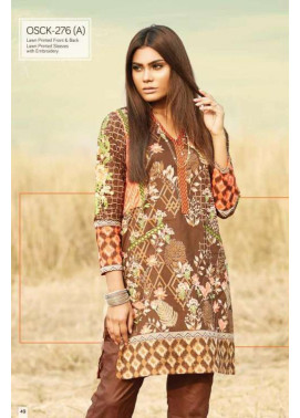 Oaks Embroidered Lawn Unstitched Kurtis OK17L 276A