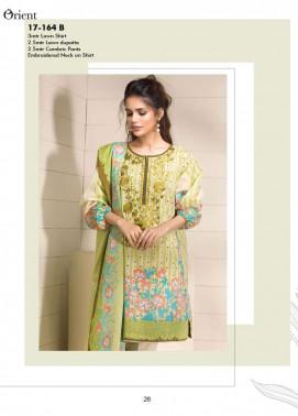 Orient Textile Printed Lawn Unstitched 3 Piece Suit OP17E 164B