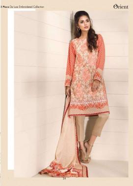 Orient Textile Embroidered Lawn Unstitched 3 Piece Suit OP17E 165A