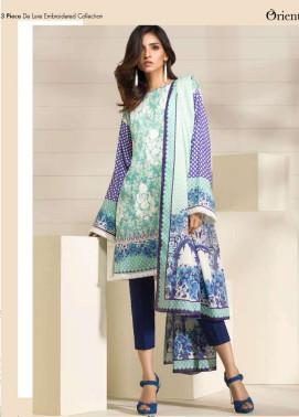 Orient Textile Embroidered Lawn Unstitched 3 Piece Suit OP17E 165B