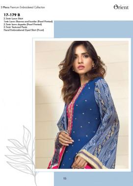 Orient Textile Embroidered Lawn Unstitched 3 Piece Suit OP17E 179B