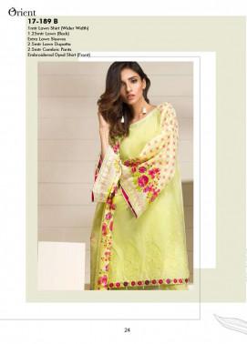 Orient Textile Embroidered Lawn Unstitched 3 Piece Suit OP17E 189B