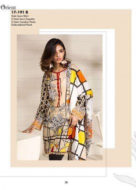 Orient Textile Embroidered Lawn Unstitched 3 Piece Suit OP17E 191B