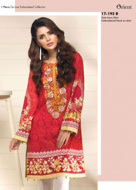 Orient Textile Embroidered Lawn Unstitched Kurtis OP17E 192B