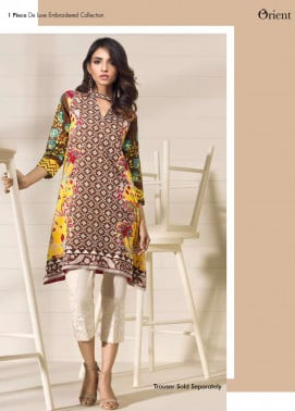 Orient Textile Embroidered Lawn Unstitched Kurtis OP17E 193A