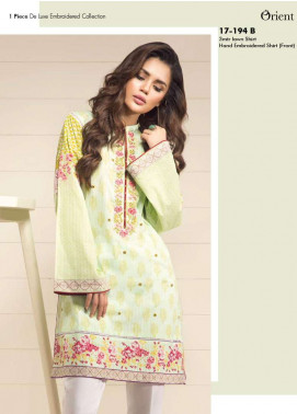 Orient Textile Embroidered Lawn Unstitched Kurtis OP17E 194B