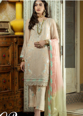 Opal by Panache Embroidered Chiffon Unstitched 3 Piece Suit PCH20O 02 - Luxury Collection