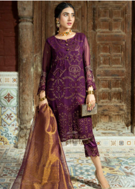 Opal by Panache Embroidered Chiffon Unstitched 3 Piece Suit PCH20O 04 - Luxury Collection