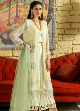 Opal by Panache Embroidered Chiffon Unstitched 3 Piece Suit PCH20O 07 - Luxury Collection