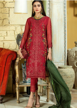 Opal by Panache Embroidered Chiffon Unstitched 3 Piece Suit PCH20O 09 - Luxury Collection