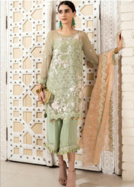 Opal by Panache Embroidered Chiffon Unstitched 3 Piece Suit PCH20O 10 - Luxury Collection