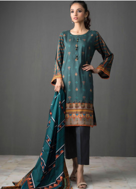 Orchid by Regalia Textiles Printed Linen Unstitched 3 Piece Suit RGT20O 01 - Winter Collection