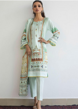 Orchid by Regalia Textiles Printed Linen Unstitched 3 Piece Suit RGT20O 04 - Winter Collection
