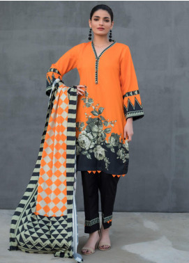 Orchid by Regalia Textiles Printed Linen Unstitched 3 Piece Suit RGT20O 06 - Winter Collection