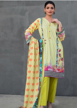 Orchid by Regalia Textiles Printed Linen Unstitched 3 Piece Suit RGT20O 08 - Winter Collection