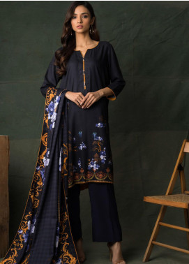 Orchid Modal by Regalia Textiles Printed Satin Unstitched 3 Piece Suit RGT20OM 02 - Winter Collection