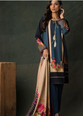 Orchid Modal by Regalia Textiles Printed Satin Unstitched 3 Piece Suit RGT20OM 05 - Winter Collection