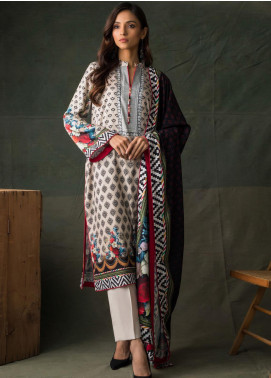 Orchid Modal by Regalia Textiles Printed Satin Unstitched 3 Piece Suit RGT20OM 06 - Winter Collection