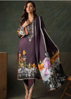 Orchid Modal by Regalia Textiles Printed Satin Unstitched 3 Piece Suit RGT20OM 07 - Winter Collection