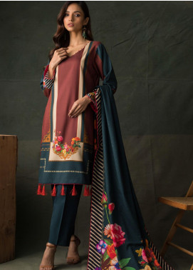Orchid Modal by Regalia Textiles Printed Satin Unstitched 3 Piece Suit RGT20OM 09 - Winter Collection