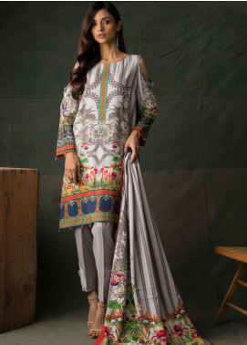 Orchid Modal by Regalia Textiles Printed Satin Unstitched 3 Piece Suit RGT20OM 10 - Winter Collection