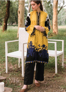 Orient Textile Embroidered Cottel Unstitched Kurties OT20MW B-151 - Winter Collection