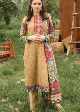 Orient Textile Embroidered Cottel Unstitched 2 Piece Suit OT20MW B-182 - Winter Collection