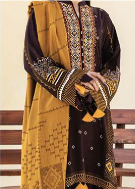 MYSA by Orient Embroidered Cottel Linen Unstitched 3 Piece Suit OT20-MW2 214 B - Winter Collection