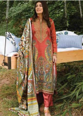 MYSA by Orient Embroidered Cottel Linen Unstitched 3 Piece Suit OT20-MW2 218 A - Winter Collection