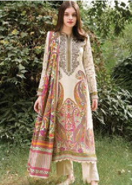 MYSA by Orient Embroidered Cottel Linen Unstitched 3 Piece Suit OT20-MW2 218 B - Winter Collection