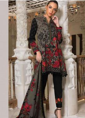 Orient Textile Embroidered Cotton Cotel Unstitched 3 Piece Suit OT18W 183B Indian Rose - Winter Collection