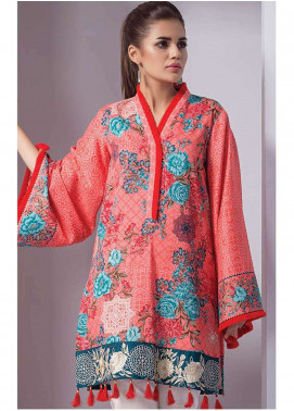 Orient Textile Embroidered Cotton Cotel Unstitched Kurties OT18W 216A Ottoman - Winter Collection