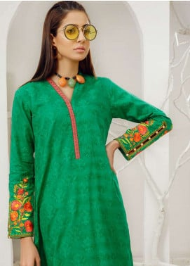 Orient Textile Embroidered Jacquard Unstitched Kurties OT19-L2 140 B - Spring / Summer Collection