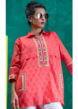 Orient Textile Embroidered Jacquard Unstitched Kurties OT19L 072 Anarkali B - Spring / Summer Collection