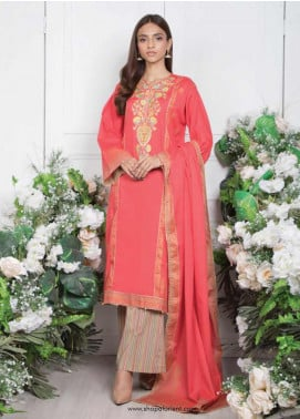 Orient Textile Embroidered Lawn Unstitched 3 Piece Suit OT20SS 020B - Spring / Summer Collection