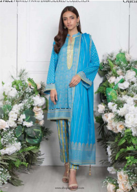 Orient Textile Embroidered Lawn Unstitched 3 Piece Suit OT20SS 021B - Spring / Summer Collection