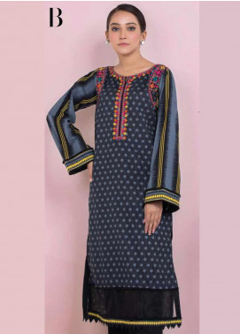 Orient Textile Embroidered Lawn Unstitched Kurties OT20SS 039B - Spring / Summer Collection