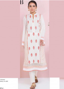 Orient Textile Embroidered Lawn Unstitched Kurties OT20SS 045B - Spring / Summer Collection