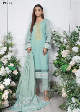 Orient Textile Embroidered Lawn Unstitched 3 Piece Suit OT20SS 048A - Spring / Summer Collection