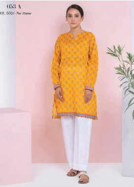 Orient Textile Printed Lawn Unstitched Kurties OT20SS 053A - Spring / Summer Collection